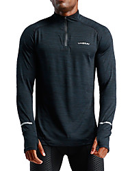 cheap Sports & Outdoors-UABRAV Men's High Neck Zipper Track Jacket Black Sports Solid Color Elastane Jacket Hoodie Top Running Fitness Workout Long Sleeve Activewear Windproof Breathable Sweat-wicking Inelastic Loose
