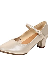 billige -Dame Moderne dansesko Syntetisk læder Hæle Cubanske hæle Kan tilpasses Dansesko Sort / Sølv / Rød