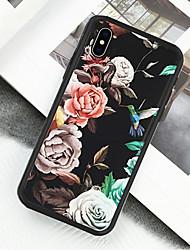 preiswerte -Hülle Für Apple iPhone X / iPhone XS Muster Ganzkörper-Gehäuse Blume Hart Acryl / Kunststoff für iPhone XS / iPhone XR / iPhone X