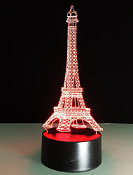 abordables -1pc Cámara falsa Luz nocturna 3D Cambiar USB Para Niños / Color variable / Creativo 5 V