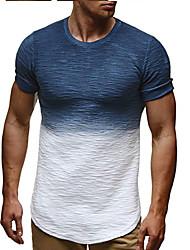 economico -T-shirt Per uomo Tinta unita Rotonda