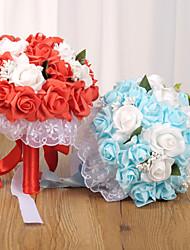 halpa -Keinotekoinen Flowers 1 haara Klassinen Häät Hääkukat Eternal Flowers Pöytäkukka