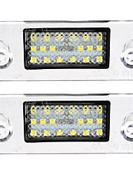 Недорогие -2pcs Автомобиль Лампы SMD 3528 / SMD LED 18 Светодиодная лампа Подсветка для номерного знака Назначение Audi Все года