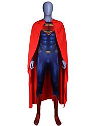 preiswerte -Zentai Anzüge Austattungen Superman Erwachsene Cosplay Kostüme Halloween Blau Patchwork Elastan Lycra® Herrn Halloween Karneval Maskerade