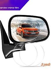 Недорогие -10см автомобильное зеркало заднего вида защитная пленка с антибликовым покрытием водонепроницаемая пленка противотуманная непромокаемая пленка 2шт