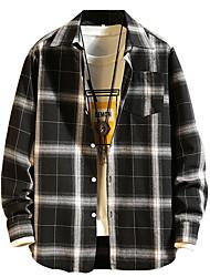 baratos -camisa de homem - gola de camisa xadrez