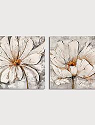 olcso -Hang festett olajfestmény Kézzel festett - Absztrakt Virágos / Botanikus Modern Tartalmazza belső keret