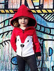 levne -Dítě Dívčí Aktivní / Základní Tisk Tisk Standardní Bavlna / Spandex Bundičky a kabáty Světlá růžová