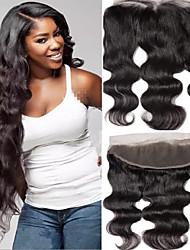 tanie -1 Pakiet Włosy brazylijskie Body wave Włosy virgin Akcesoria do peruk Taśma włosów z zamknięciem 8-20 in Kolor naturalny Ludzkie włosy wyplata Koronka Seksowna kobieta Nowości Ludzkich włosów