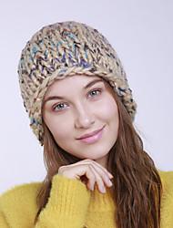 Недорогие -Жен. Активный Классический Симпатичные Стиль Широкополая шляпа Акрил,Однотонный Осень Зима Желтый Пурпурный Светло-серый