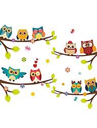 Недорогие -Декоративные наклейки на стены - Наклейки для животных Животные / Цветочные мотивы / ботанический Столовая / Детская