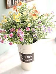 abordables -Fleurs artificielles 1 Une succursale Simple Rustique style pastoral Chrysanthème Fleur de Table