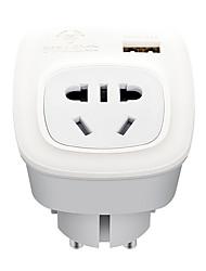 abordables -BULL 1pc Protection de l'enfance / Adaptateur de voyage ABS + PC Adaptateur d'alimentation 2500 W