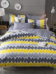 お買い得  -布団カバーセット 贅沢 / ストライプ / 波紋 / ボヘミアンスタイル ポリスター プリント 4個Bedding Sets