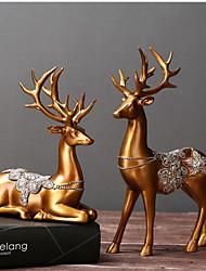 abordables -Objets décoratifs, Résine Moderne contemporain pour Décoration d'intérieur Cadeaux 1pc