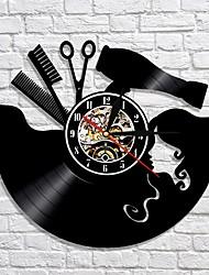 Недорогие -расческа ножницы фен салон красоты настенные часы парикмахерская виниловая пластинка
