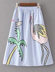 Недорогие -женские юбки-карандаш миди - животное