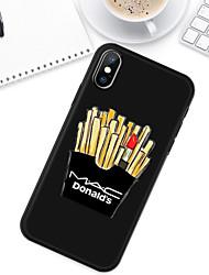 Недорогие -Кейс для Назначение Apple iPhone XS / iPhone XR / iPhone XS Max С узором Кейс на заднюю панель Продукты питания Мягкий ТПУ