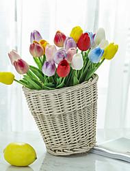 رخيصةأون -زهور اصطناعية 10 فرع كلاسيكي فردي الزفاف Wedding Flowers أزهار التولب أزهار الطاولة