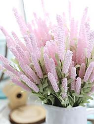 abordables -Fleurs artificielles 5 Une succursale Classique Traditionnel / Classique Européen Lavande Fleurs éternelles Fleur de Table