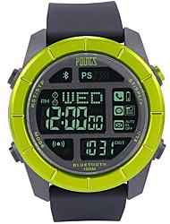 Недорогие -Муж. Спортивные часы Японский Японский кварц Pезина Черный 100 m Защита от влаги Smart Bluetooth Цифровой На открытом воздухе Мода - Зеленый Один год Срок службы батареи