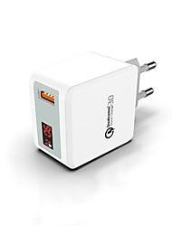 billige -USB-lader -- Hann til en hunn Desk Charger Station Nytt Design Us Plugg / Eu Plugg Ladereadapter
