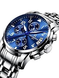 Недорогие -Муж. Нарядные часы Авиационные часы Японский Кварцевый Нержавеющая сталь Черный / Серебристый металл / Золотистый 30 m Защита от влаги Секундомер Творчество Аналоговый Роскошь Мода Aristo -