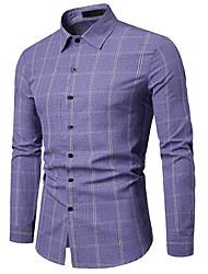 お買い得  -メンズシャツ - チェック柄シャツの襟