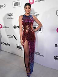 preiswerte -Eng anliegend Schmuck Boden-Länge Pailletten Formeller Abend Kleid mit Paillette durch TS Couture®