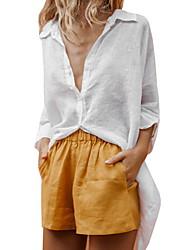 halpa -naisten paita - vankka värillinen v kaula