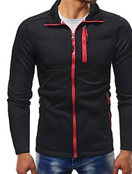 abordables -Homme Simple Sweatshirt Couleur Pleine