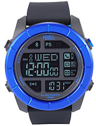 Недорогие -Муж. Спортивные часы Японский Цифровой Pезина Черный 100 m Защита от влаги Smart Bluetooth Цифровой На открытом воздухе Мода - Синий Один год Срок службы батареи