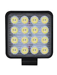 ราคาถูก -1pcs การเชื่อมต่อสายไฟ รถยนต์ Light Bulbs 48 W COB 3550 lm 16 LED ไฟตัดหมอก / ไฟทำงาน สำหรับ Universal ทุกปี