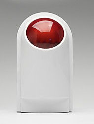 Недорогие -Wireless Siren Horn 120dB Siren Sound and Light Siren 433 Wireless Sound and Light Alarm Burglar Alarm Системы охранной сигнализации / Alarm хост Платформа Заданный код 433 Hz для
