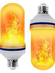 Недорогие -светодиодные e26 e27 кукурузные огни эффект пламени светодиодные шарики smd 2835 имитация природы огонь свет кукурузные лампочки пламя мерцание рождественские украшения rohs 2 шт.