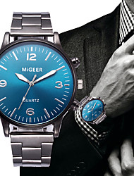 Недорогие -Муж. Нарядные часы Кварцевый Нержавеющая сталь Черный Секундомер Творчество Новый дизайн Аналоговый Классика Мода - Белый Черный Синий Один год Срок службы батареи