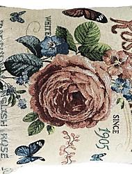 Недорогие -1 штук Хлопок / Лён Наволочка, Простой Цветы Цветы Modern