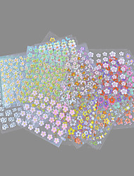 Недорогие -30 pcs 3D наклейки на ногти Цветы маникюр Маникюр педикюр Милый Изысканный и современный / Мода Повседневные / ПВХ / 3D-стикеры для ногтей