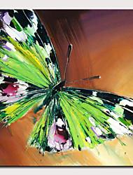 זול -ציור שמן צבוע-Hang מצויר ביד - מופשט אומנות פופ מודרני כלול מסגרת פנימית