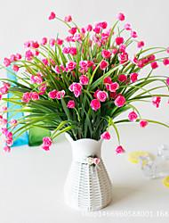 abordables -Fleurs artificielles 5 Une succursale Classique Mariage style pastoral Roses Plantes Fleurs éternelles Fleur de Table