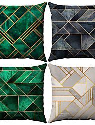Недорогие -4.0 штук Хлопок / Лён Наволочки, геометрический Мода Рисунок Геометрия Мода