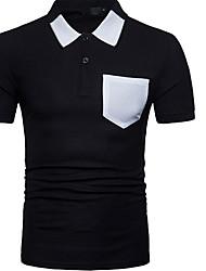 billiga -mans polo - solidfärgad skjorta krage