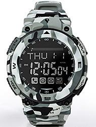 Недорогие -Муж. Армейские часы Японский Цифровой Pезина Цвета морской волны 100 m Защита от влаги Bluetooth Светящийся Цифровой На каждый день Мода - Стальной Один год Срок службы батареи