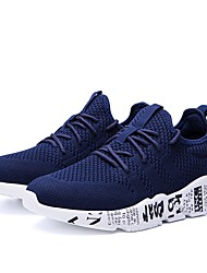 cheap -Men's Light Soles Mesh Spring & Summer Sporty / Casual Athletic Shoes Running Shoes / Walking Shoes Breathable Gray / Red / Blue