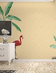 voordelige -Muurschildering / Wanddoek Niet geweven Behangen - lijm nodig Bomen / Bladeren / Art Deco / 3D