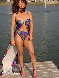 ราคาถูก -สำหรับผู้หญิง สีน้ำเงิน สีดำ tankini ชุดว่ายน้ำ - ลายดอกไม้ M L XL สีน้ำเงิน