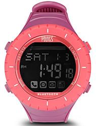 Недорогие -Жен. Спортивные часы На открытом воздухе Мода Яркий розовый Pезина Японский Цифровой Розовый Защита от влаги Smart Bluetooth 100 m 1 комплект Цифровой Один год Срок службы батареи / ЖК экран