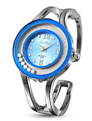 Недорогие -Жен. Нарядные часы Часы-браслет Наручные часы Кварцевый Нержавеющая сталь Серебристый металл Повседневные часы обожаемый Аналоговый Мода Цветной - Синий Розовый Светло-синий / Один год