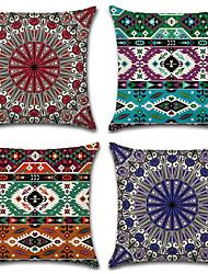 abordables -4.0 pcs Coton / Lin Taie d'oreiller, Style Bohème Conception spéciale Géométrique Style artistique Abstrait