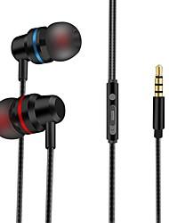 billige -LITBest I øret Med ledning Hodetelefoner Hodetelefon Aluminum Alloy / silica Gel Mobiltelefon øretelefon Stereo Headset